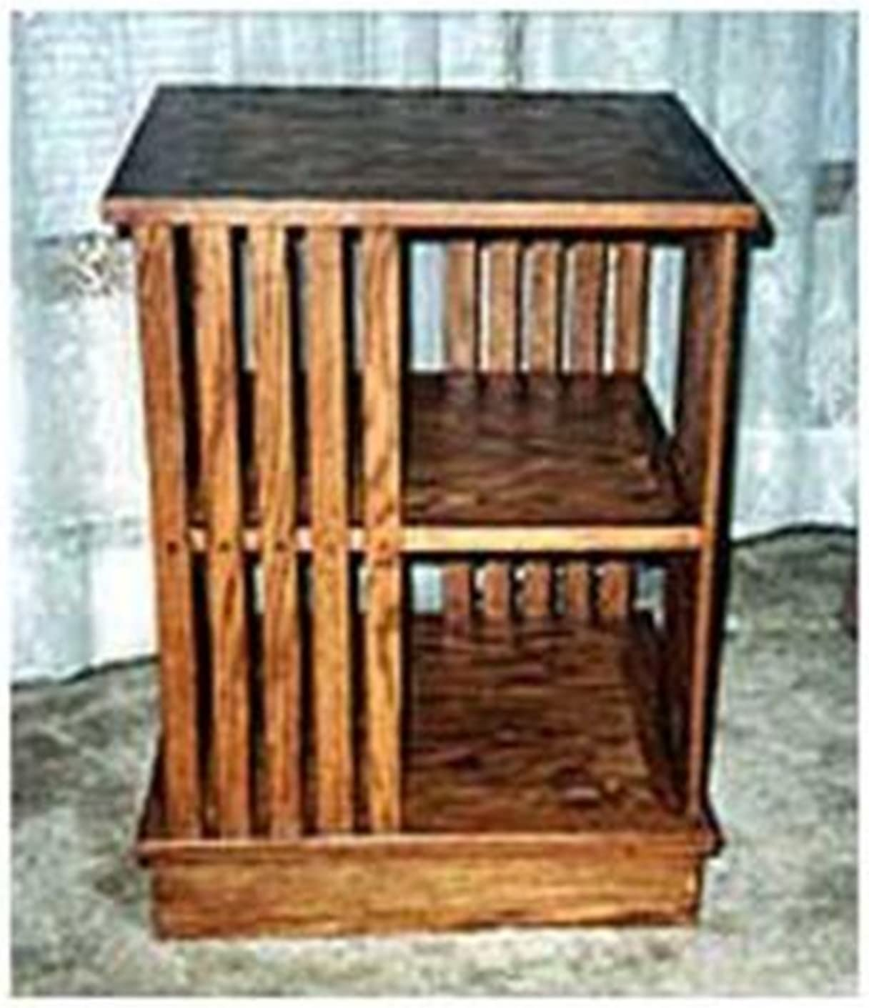 Woodworking Project Paper Plan To Build Revolving Bookcase