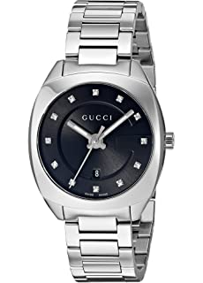 b5bb2fe54d5 Gucci Womens Analogue Classic Quartz Watch with Stainless Steel ...