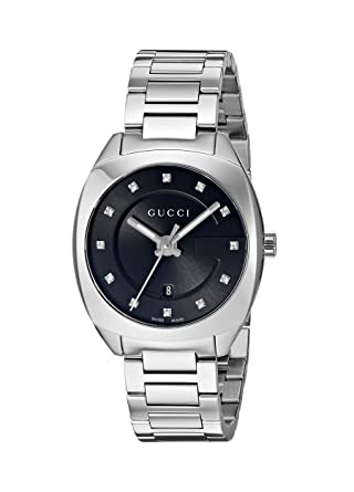 072a464e951 Image Unavailable. Image not available for. Color  Gucci Swiss Quartz  Stainless Steel Dress Silver-Toned women s Watch ...