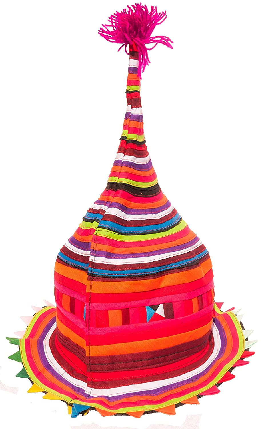Flat Round CCCollections Festival Rave Hat Tribal hill tribe Cone or Flat