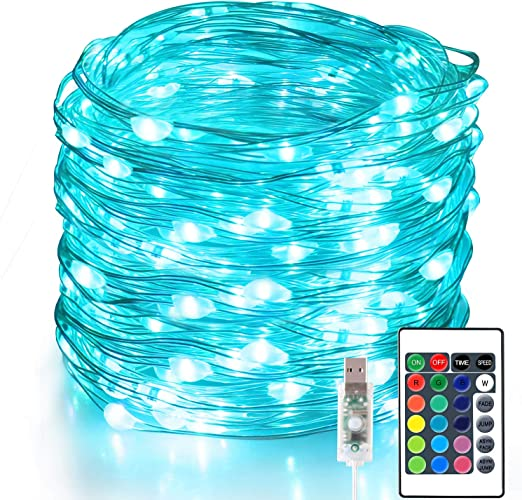 50 LED USB Powered Color Changing Wire String Fairy Party Xmas Wedding Light
