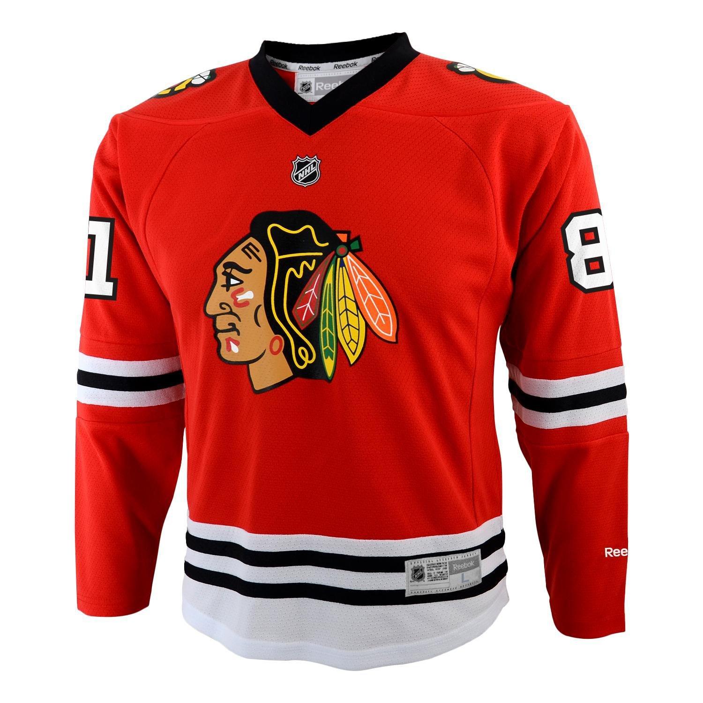 Marian Hossa Kinder Chicago Blackhawks NHL Reebok Red Replica Jersey Trikot jugendliche Jungen rot L-XL 58HWP