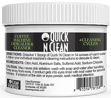 Krups Cafetera desincrustación solución & Cleaner Kit por Quick n limpio de café (4
