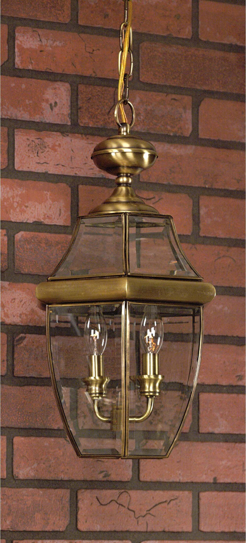 Quoizel NY1179A Newbury 3-Light Outdoor Hanging Lantern, Antique Bronze by Quoizel