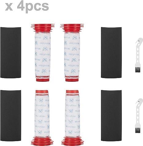Supremery 4x filtro + inserto de espuma para aspiradora inalámbrica Bosch Athlete BCH6L2560 BCH6L2561 / Bosch BCH6ZOOO Zooo Pro Animal aspirador, lavable: Amazon.es: Hogar