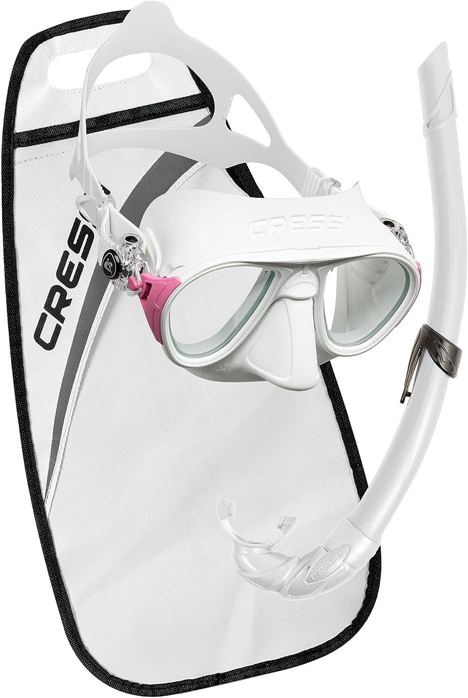 Cressi Calibro + Corsica Packs de Snorkel, Unisex Adulto, Blanco ...