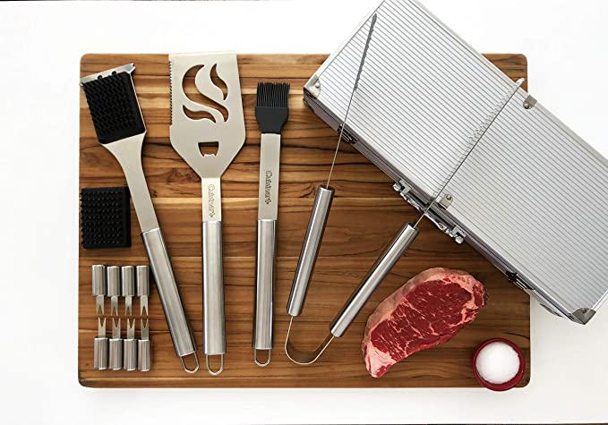 Amazon.com: Juego de 14 piezas para parrilla Cuisinart de ...