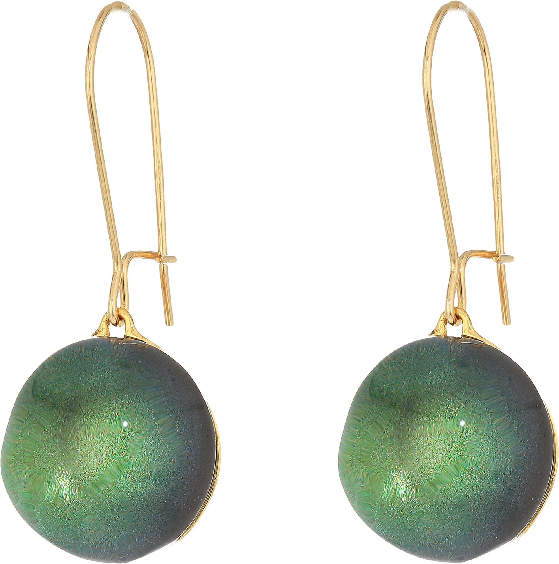 Alexis Bittar Girl's Dangling Sphere Kidney Wire Earrings Deep Jade Earring