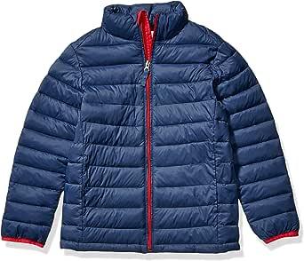 Amazon Essentials Boys' Lightweight Water-Resistant Packable Puffer Jacket Niños