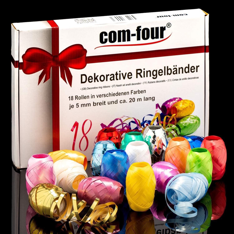 18 Rollen Ringelband /à 20 m verschiedene Farben