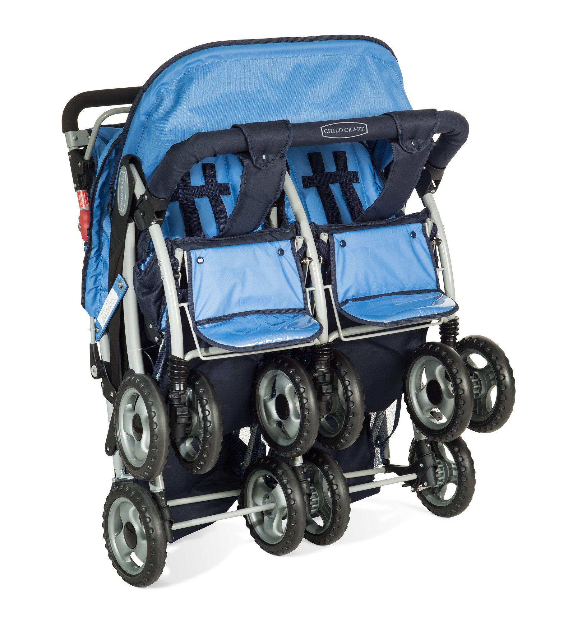 Child Craft Sport Multi-Child Quad Stroller, Regatta Blue by Child Craft (Image #2)