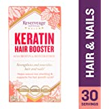 Reserveage - Keratin Hair Booster, Supports Growth of Strong, Shiny, Youthful Hair and Nails with Biotin and Pantothenic Acid, Gluten Free, 60 Capsules