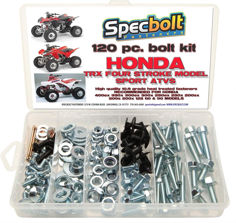 120pc Specbolt Honda 400EX 250ex perno Kit para mantenimiento y restauración OEM Spec Fasteners Quad TRX400EX TRX250 X aslo gran para ATC & TRX 350 x ...