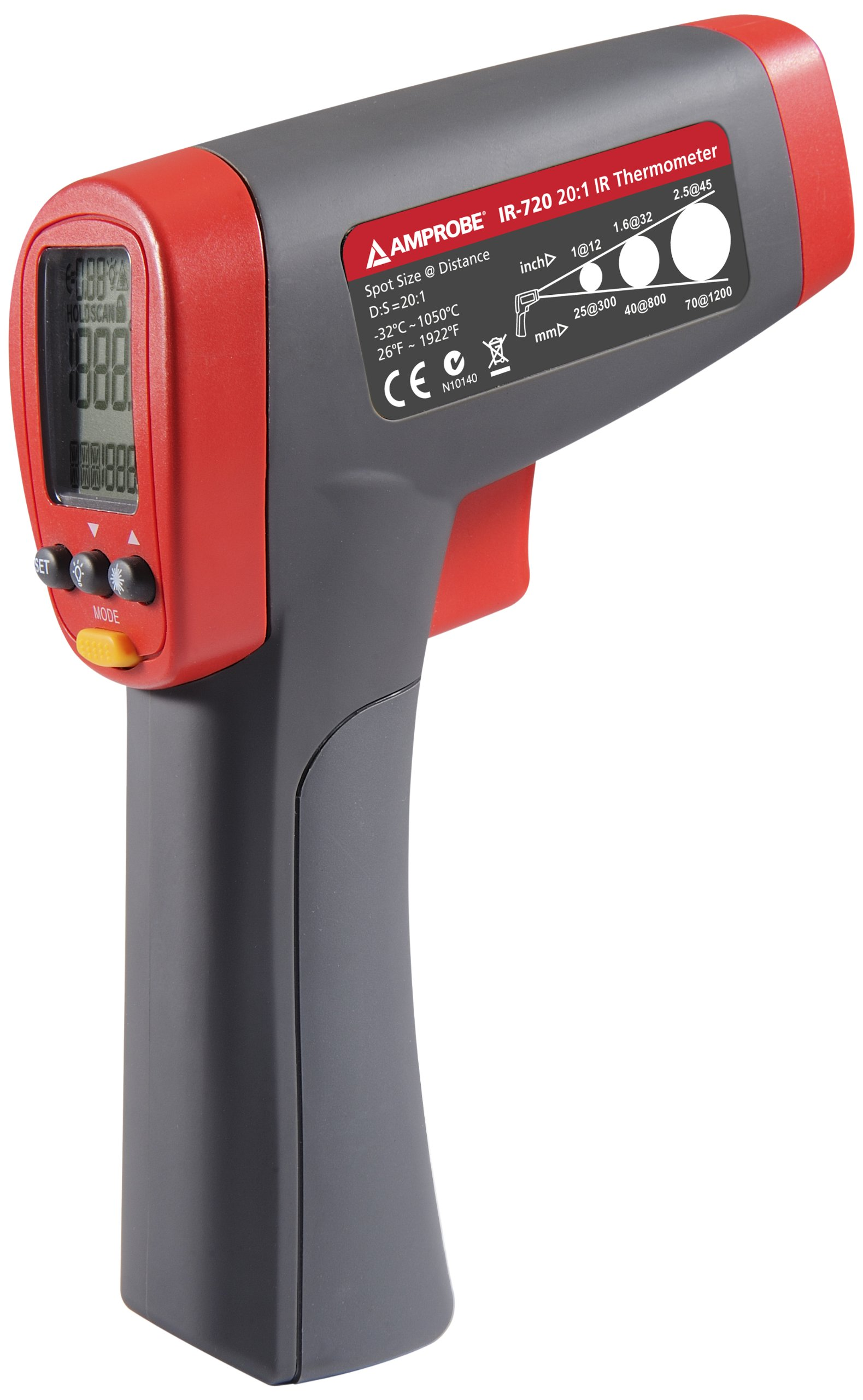Amprobe IR-720 Infrared Thermometer with 20:1 Spot Ratio