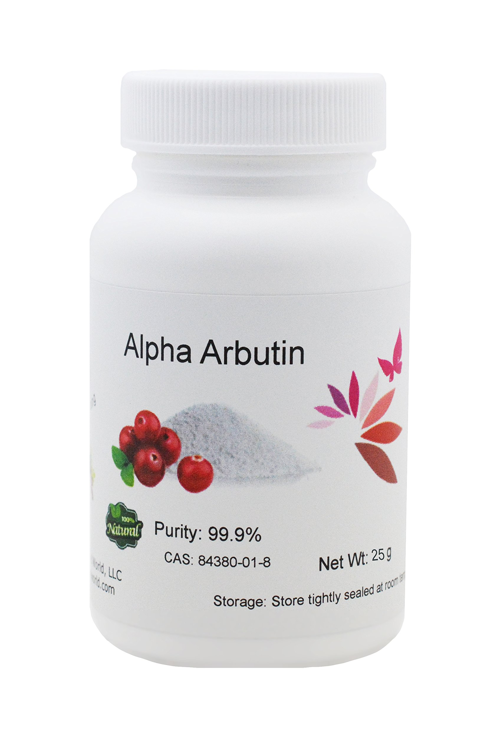 Pure Alpha-Arbutin Powder, 25 g, Quality Guaranteed! Good for Skin Lightening