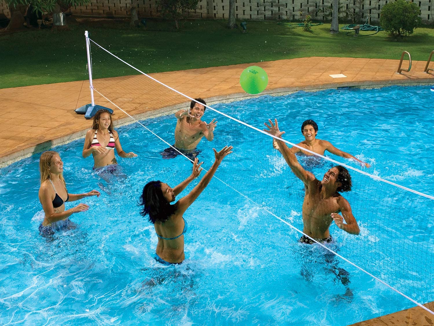 B000W0L9NK Poolmaster Across In Ground Swimming Pool Volleyball Pool Game 81siFeilkzL