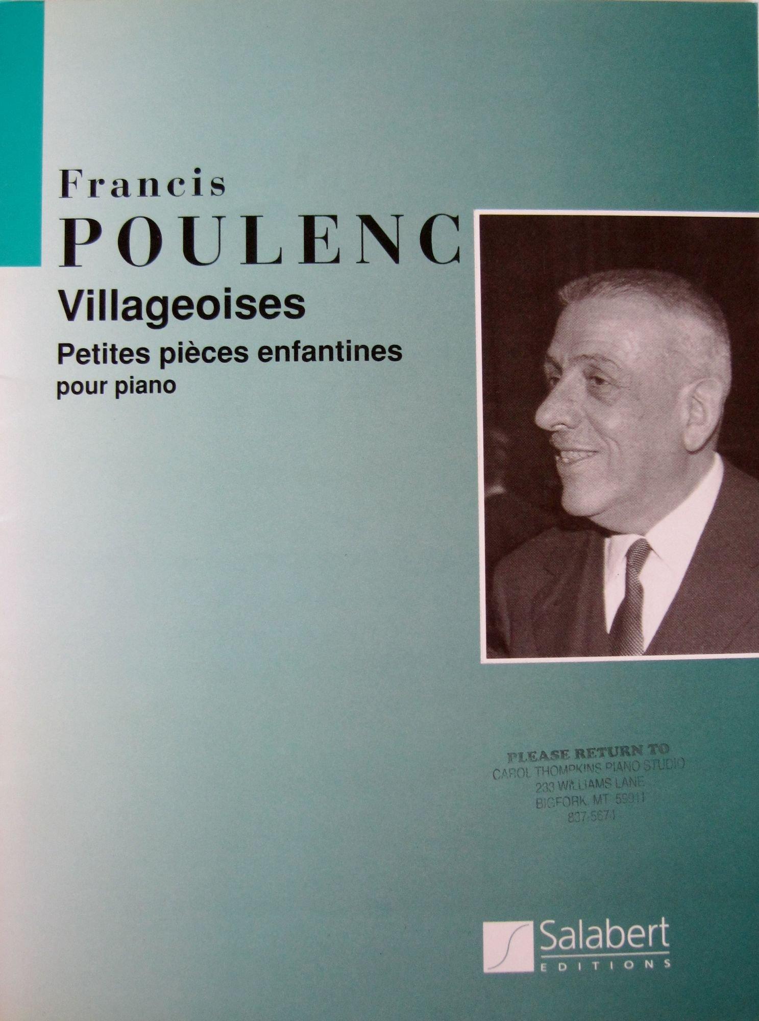 Villageoises (petites pièces enfantines) - Piano, Francis Poulenc
