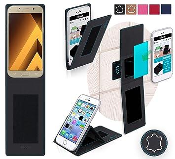 Funda para Samsung Galaxy A5 (2017) en Cuero Negro: Amazon.es ...