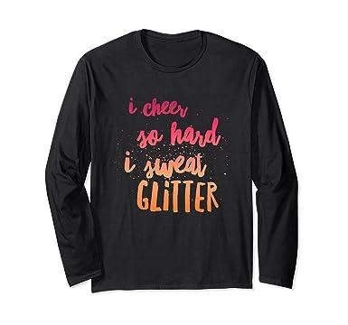Unisex I cheer so hard I sweat glitter teens funny gift t-shirt Small Black d9ba3dc9a71b