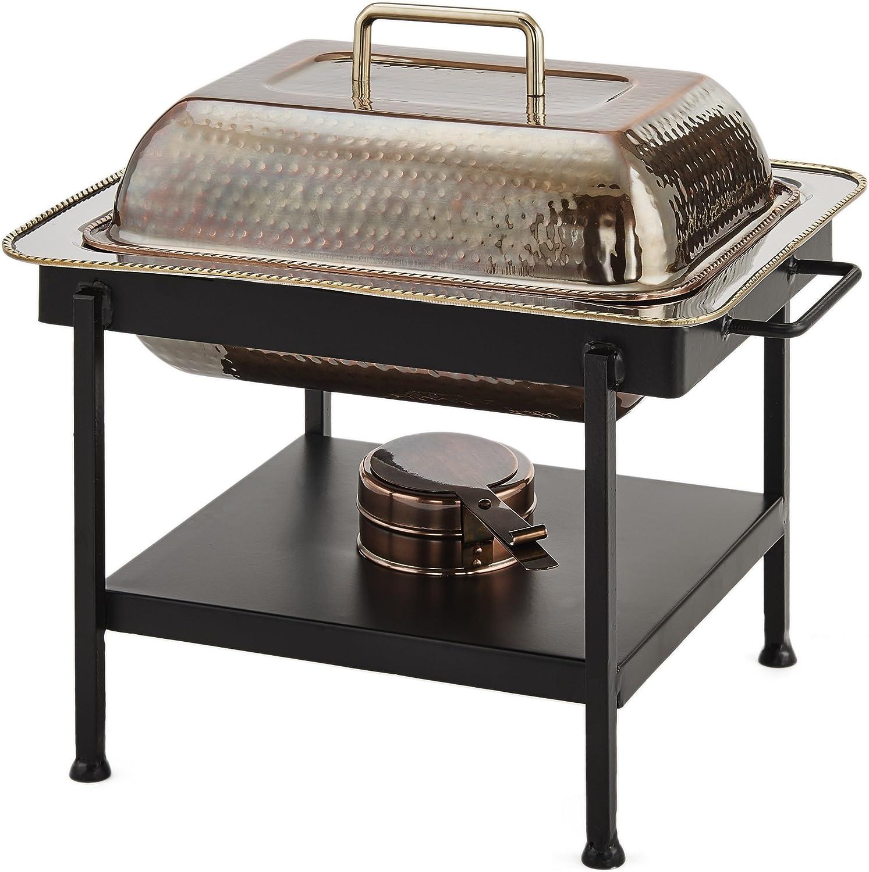 B0000E2RIX Old Dutch International 742 Chaffing Dish, 4 Qt, Antique Copper 81siKcPx2RL