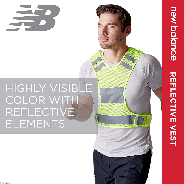 New Balance Reflective Vest - Safety Reflector Gear High Visibility Shoulder Straps & Belt for Night Time Running/Jogging, Walking, Cycling/Bike for ...