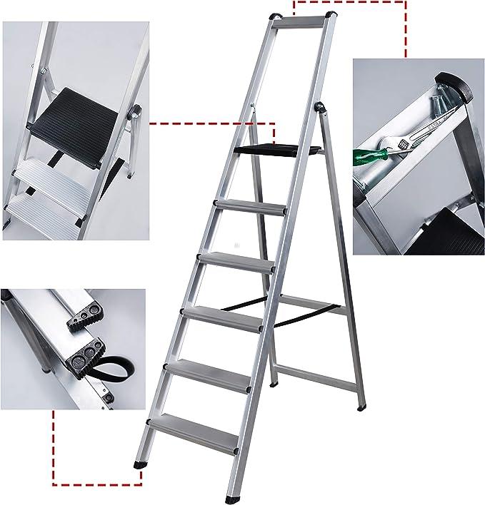 Escalera Ancha Soldada TORO (6 Peldaños): Amazon.es: Bricolaje y herramientas