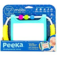 MOBI Peeka Baby Developmental Mirror - Safe Newborn Toys, Brain Development 0 Months+, Flat, Upright, Portable Small…