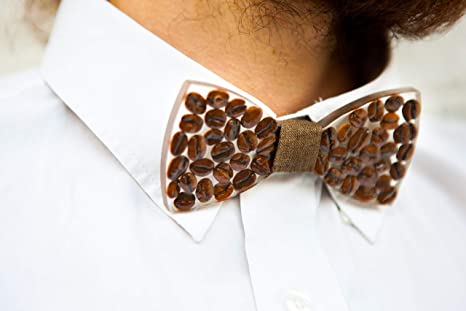 Fun bow tie Coffee Bow Tie Gift for dad Coffee addict Novelty Bow tie Bow tie
