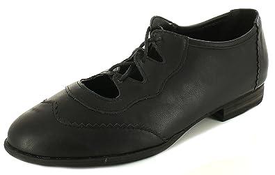 c15ba6d38 London Rebel Ladies Womens Black Ghillie Tie Lace Ups Brogue Detail Jazz  Shoes. -