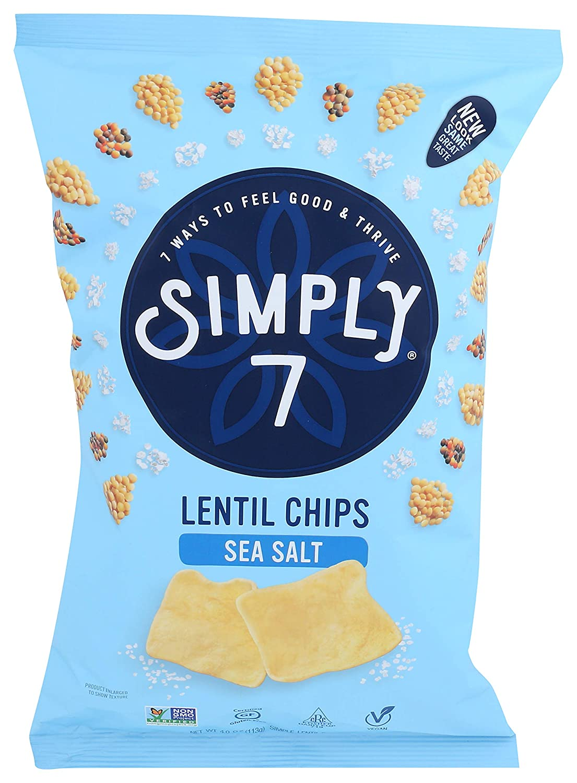 simply 7 lentil chips