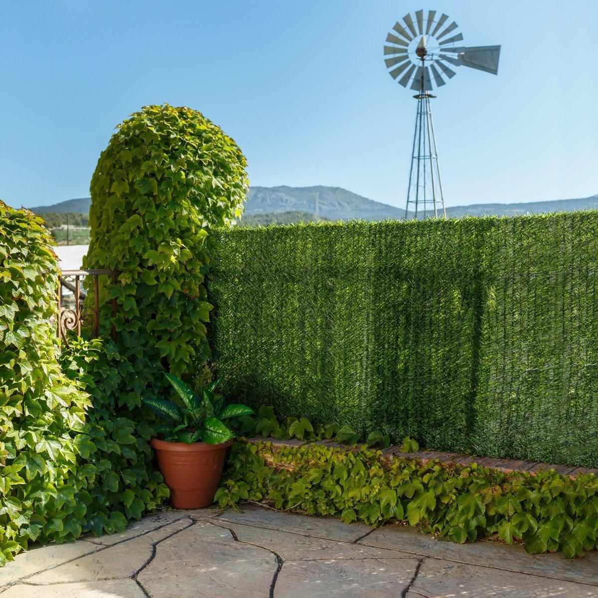 Amazon Ldk Garden Kunsthecke als Sichtschutz für den