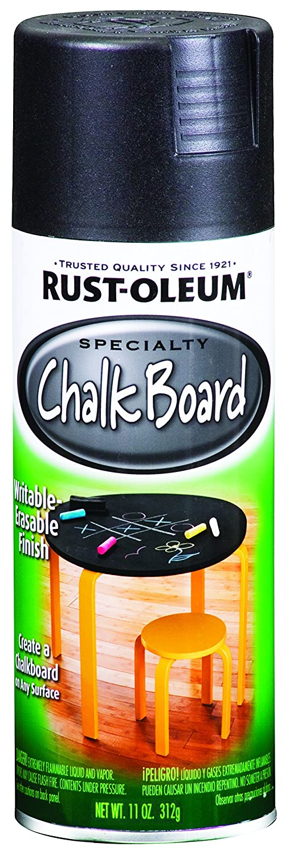 Amazon.com: Rust-Oleum 1913830 espray de tiza, negro, Spray ...
