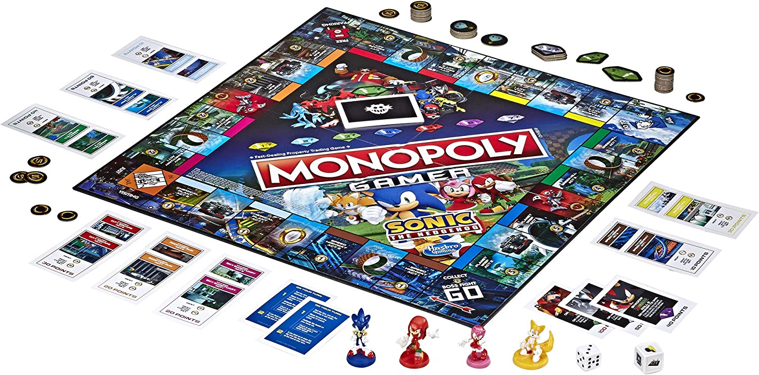 Daily Deals On Family Board Games Perfect For Nights In - Sonic Monopoly Board Game