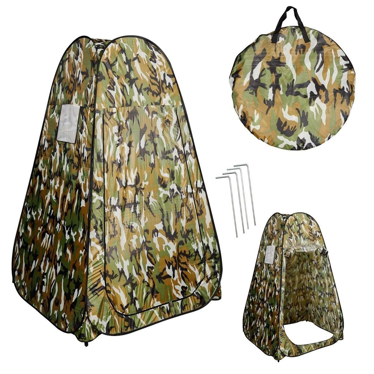 Generic O-8-O-3081-O m Camou Tent Camping mping R Toilet Changing ing Ten Portable Pop UP Toilet Room Camouflage shing B Fishing Bathing NV_1008003081-TYQFUS32 by Generic (Image #1)