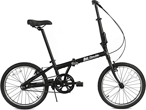 FabricBike Folding Bicicleta Plegable Cuadro Aluminio 3 Colores (Fully Matte Black): Amazon.es: Deportes y aire libre