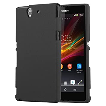 newest 87c18 1b1aa Cadorabo Case works with Sony Xperia Z in FROST BLACK – Shockproof and  Scratch Resistant TPU Silicone Cover – Ultra Slim Protective Gel Shell ...
