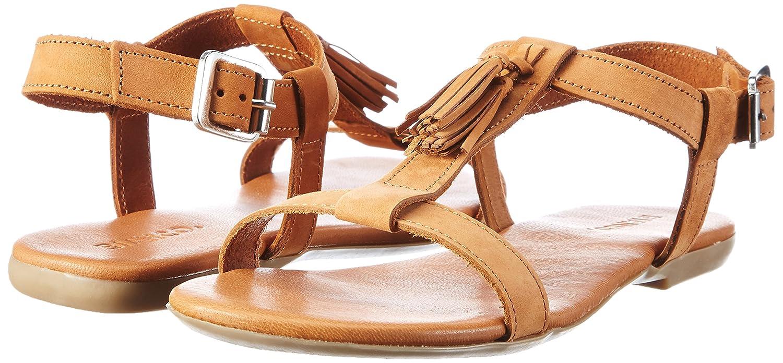Brown 21 Femme Bianco Sandal 39 49247 Light Bar T EU Marron OxwqXR8