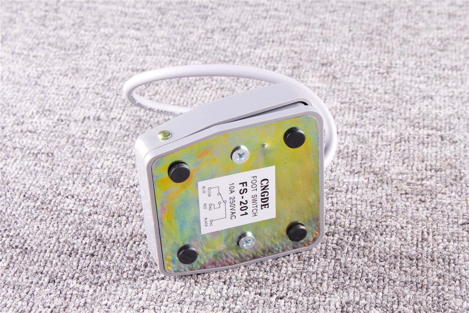 1x TFS-402 Foot Pedal Switch CNC Momentary Contact Type AC Stomp Foot Switch 250V 15A US Shipping