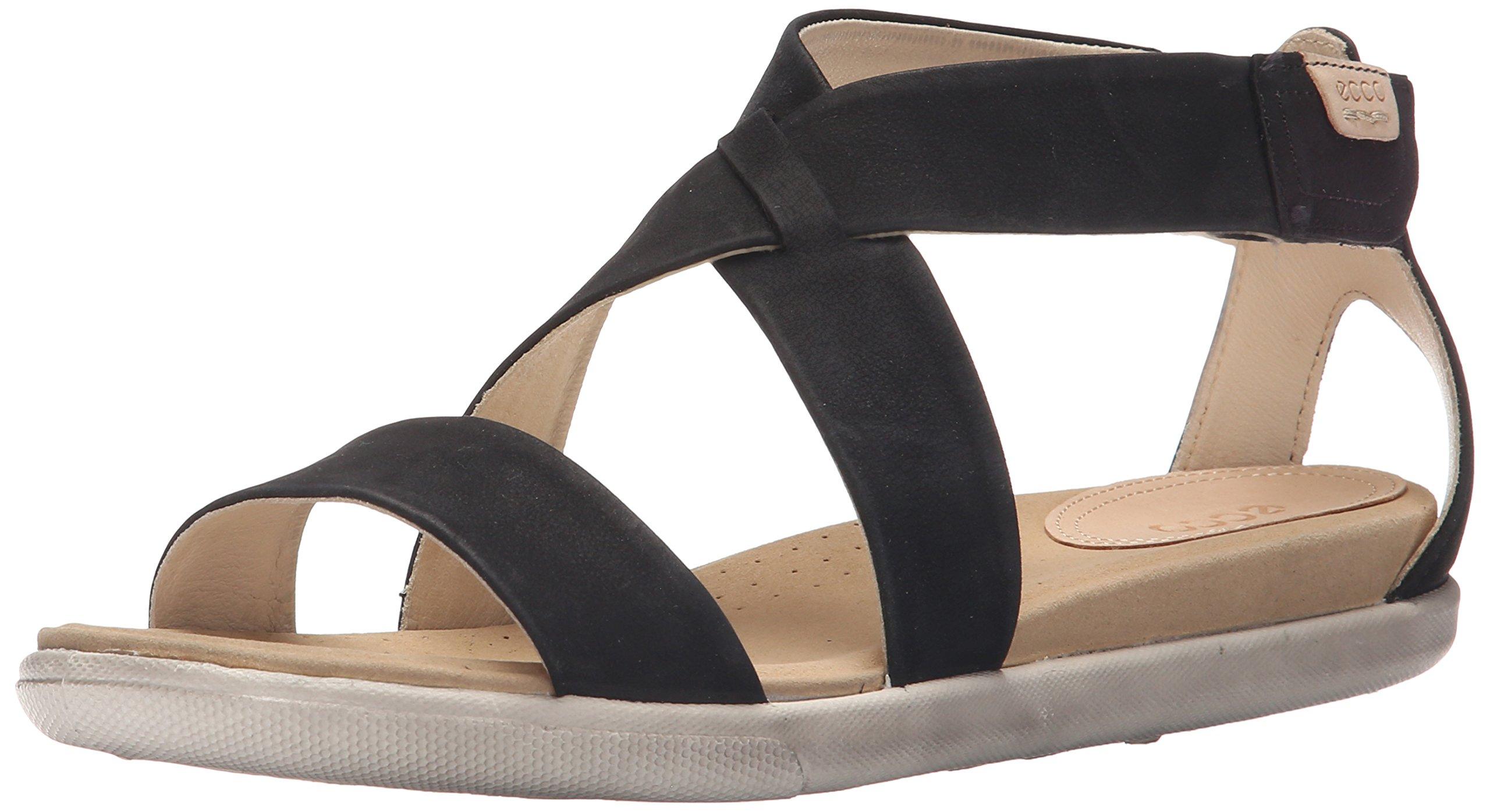 Ecco Footwear Womens Damara Strap Gladiator Sandal, Black, 40 EU/9-9.5 M US