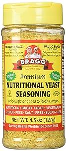 Bragg Nutritional Yeast Seasoning, 4.5 Oz (Pack Of 3)