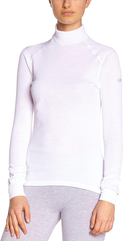 Odlo  - Camiseta Interior térmica de Acampada y Senderismo para Mujer, tamaño XS, Color Blanco