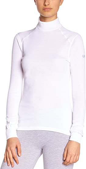 TALLA XS. Odlo L/S Turtle Neck Active Originals Warm, Camiseta Térmica para Mujer