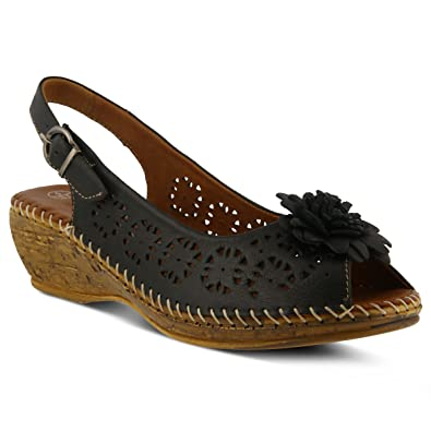 shop offer for sale shipping outlet store online Spring Step Leather Wedge Sandals - Saibara buy cheap best wholesale latest cheap online clearance outlet qrIqn
