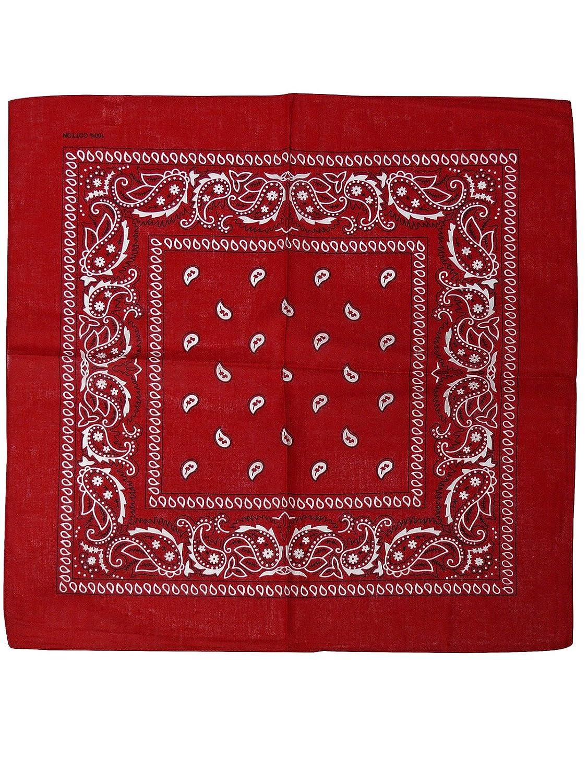 Harrys-Collection Bandana Bindetuch 100% Baumwolle 1 er 6 er oder 12 er Pack!, Farbe:rot