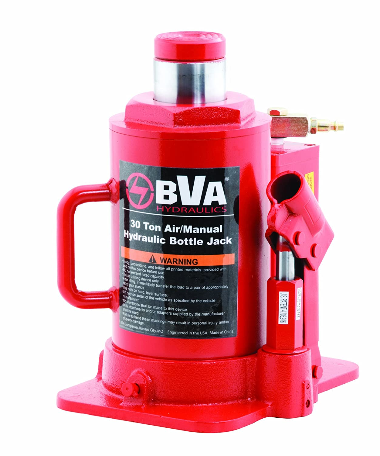 BVA Hydraulics J10129 12 Ton Shorty Manual Bottle Jack