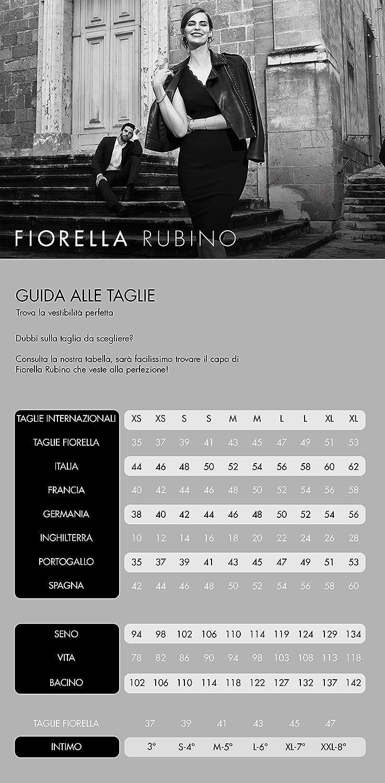 Italian Plus Size Piumino con Bordi a Righe Fiorella Rubino