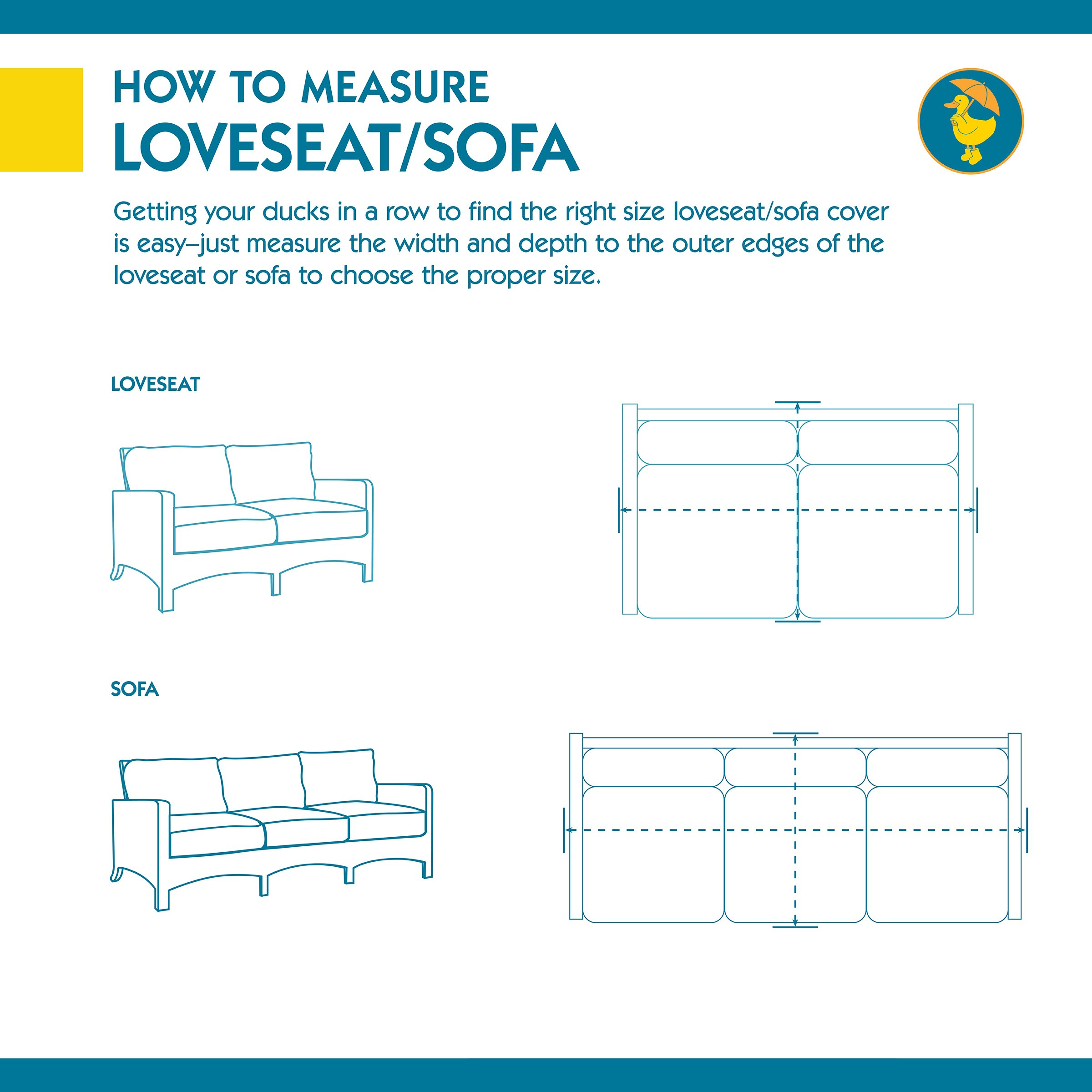 Duck Covers Soteria Rainproof 62'' Wide Patio Loveseat Cover by Duck Covers (Image #2)