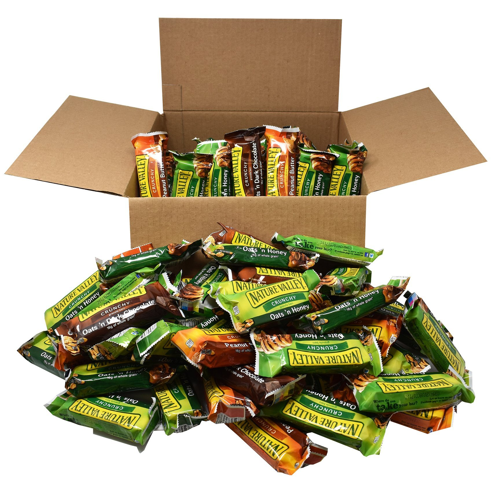 Office Snacks Nature Valley Bars Bulk Variety Pack of 120 - Office Snacks, School Lunches, Meetings by Blue Ribbon (Image #4)