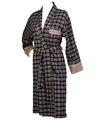 Waite Ltd Ladies 100% Combed Cotton Tartan Check Dressing Gown ...