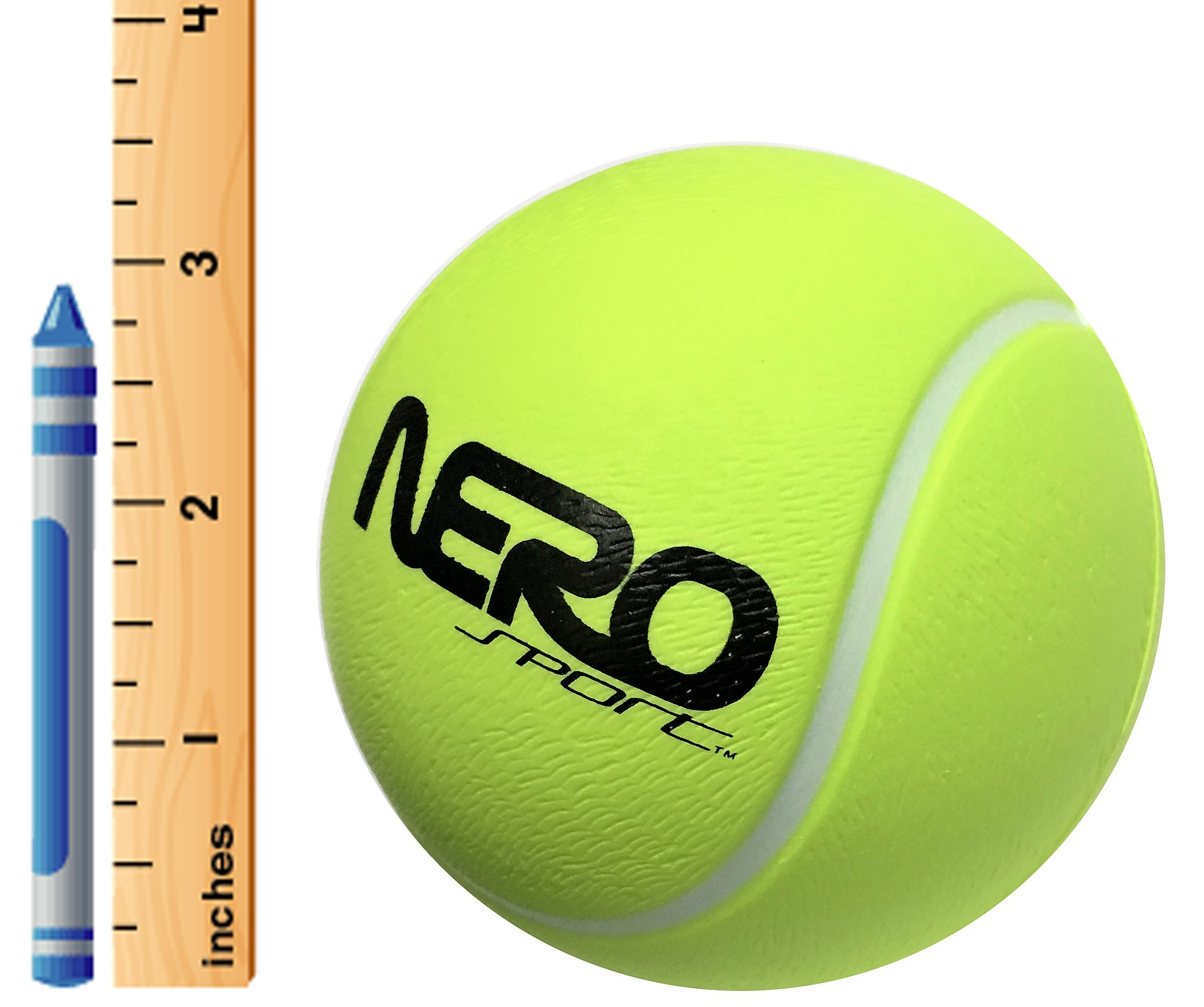 Nero NS200 High Bounce Rubber Tennis Ball 3.5'' Training Style Let Them Play Outside Great for Streets Park Back Yard Playground Tennis Practice Agility Ball Wholesale Bulk Gifts (Green Tennis)